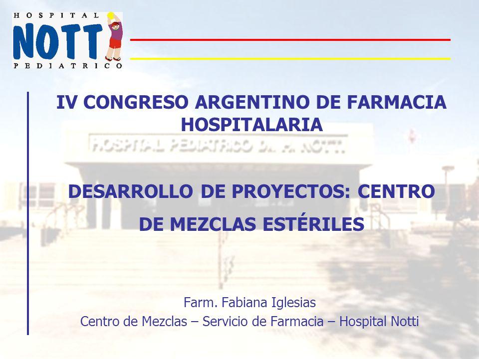 Centro de Mezclas – Servicio de Farmacia – Hospital Notti
