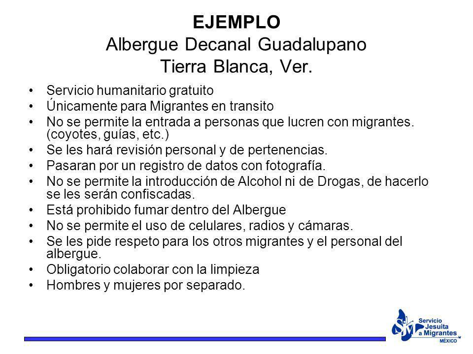 EJEMPLO Albergue Decanal Guadalupano Tierra Blanca, Ver.