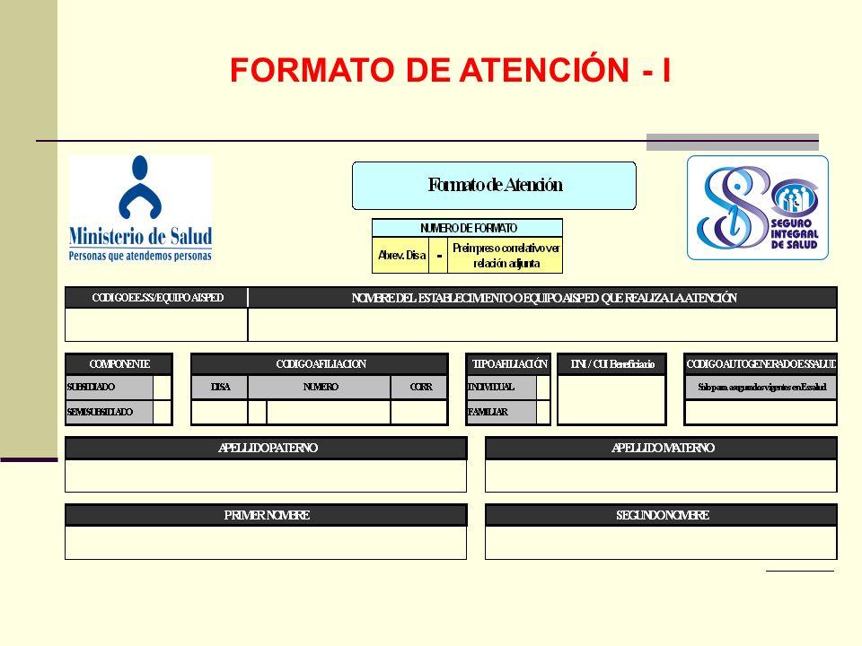 FORMATO DE ATENCIÓN - I