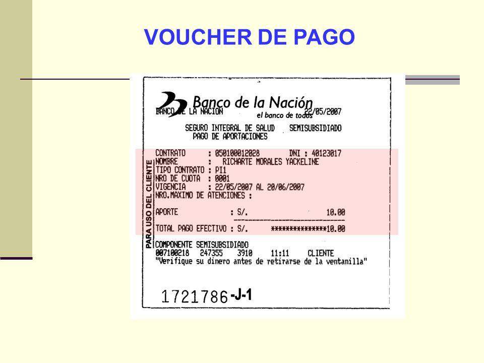 VOUCHER DE PAGO