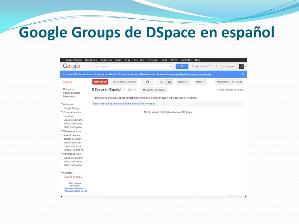 Google Groups de DSpace en español