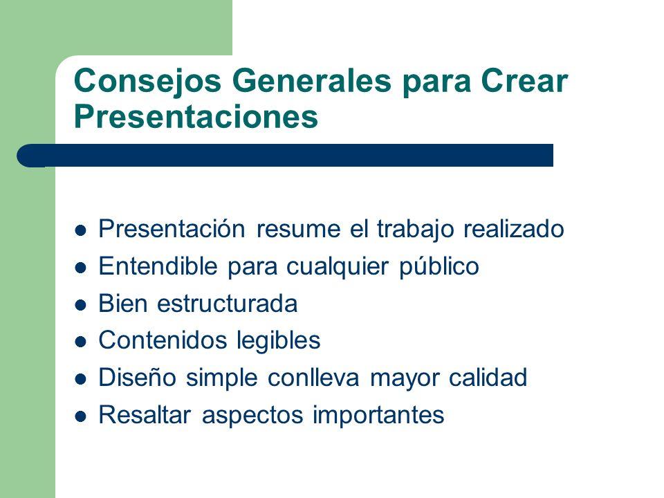 Consejos Generales para Crear Presentaciones
