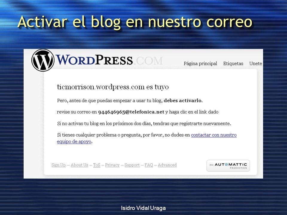 Activar el blog en nuestro correo