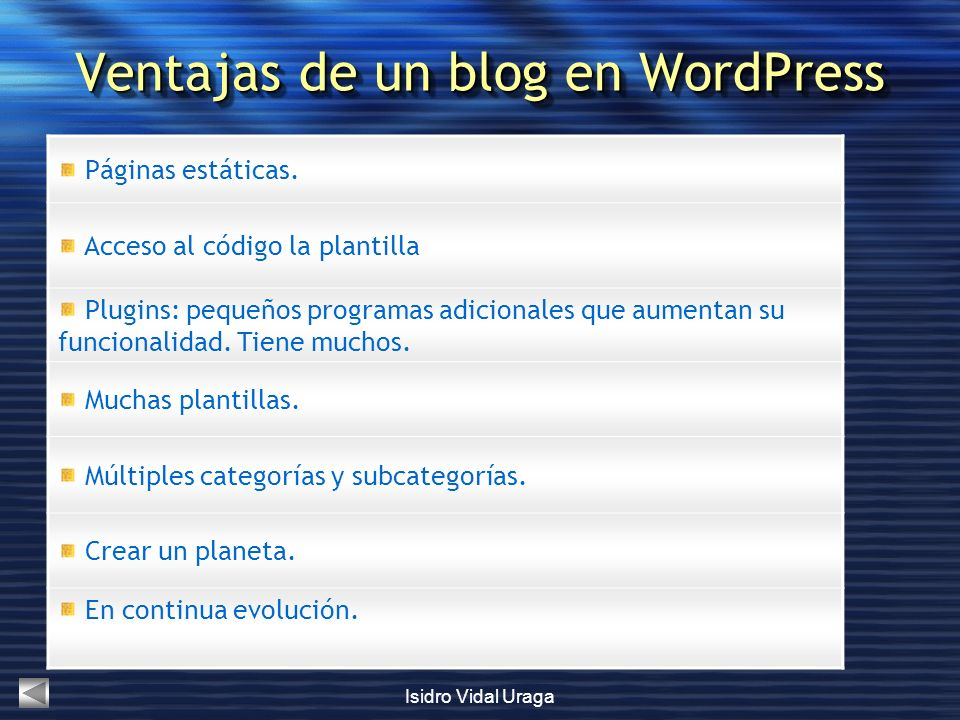 Ventajas de un blog en WordPress