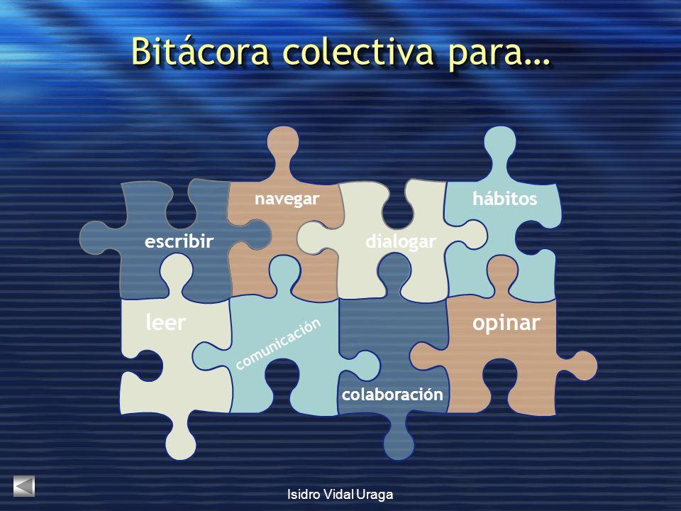 Bitácora colectiva para…