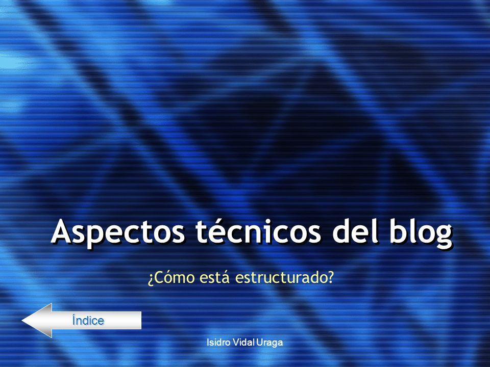 Aspectos técnicos del blog