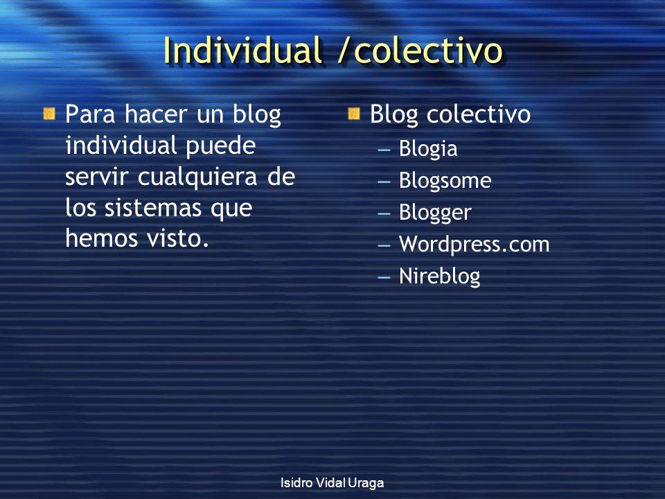 Individual /colectivo