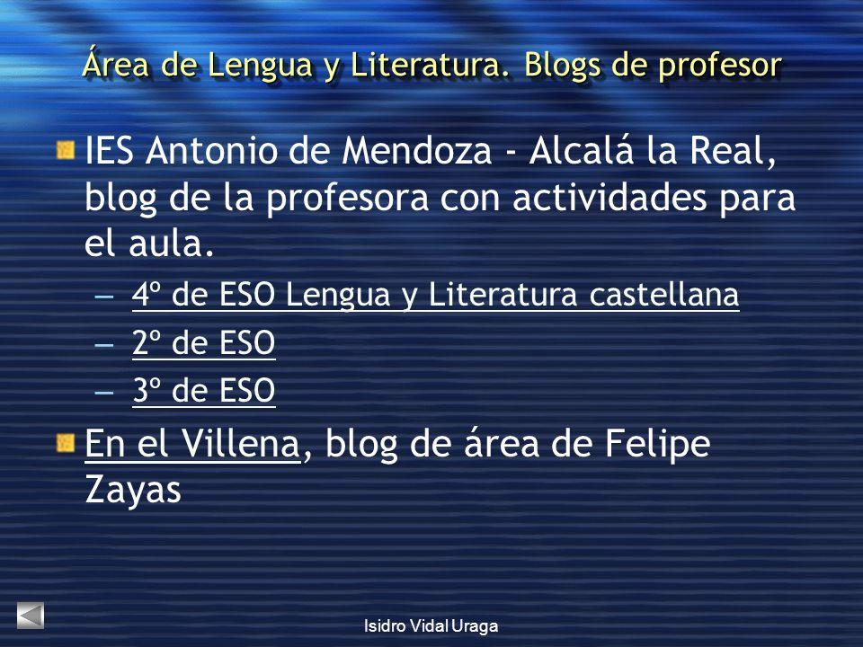 Área de Lengua y Literatura. Blogs de profesor