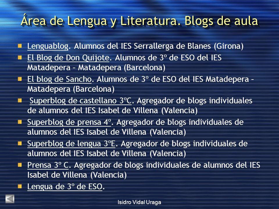 Área de Lengua y Literatura. Blogs de aula