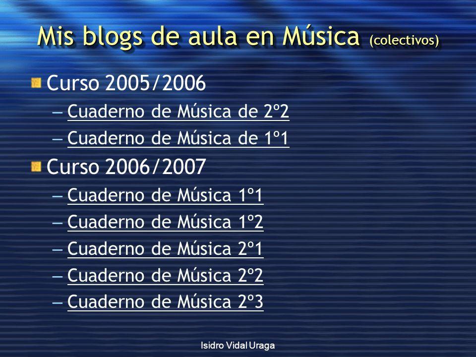 Mis blogs de aula en Música (colectivos)
