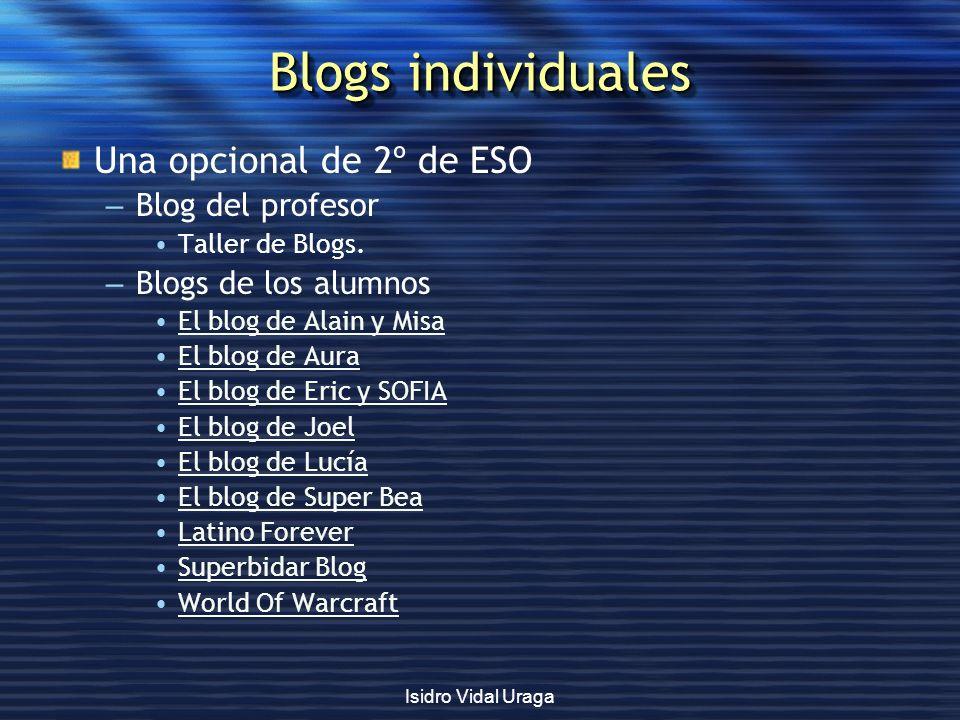 Blogs individuales Una opcional de 2º de ESO Blog del profesor