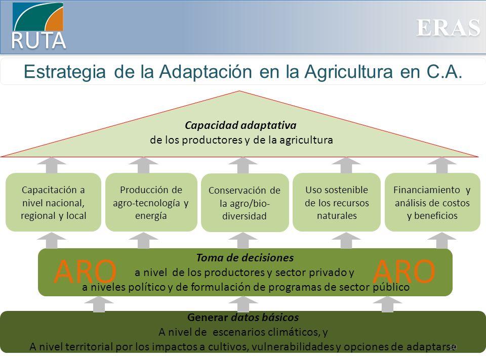ARO ARO Estrategia de la Adaptación en la Agricultura en C.A.