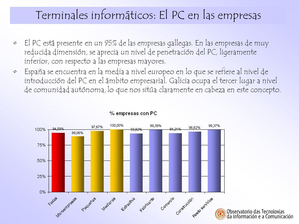 Terminales informáticos: El PC en las empresas