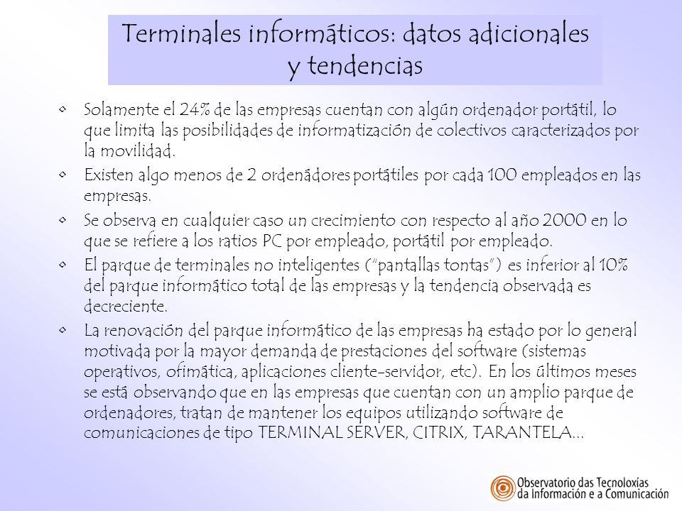 Terminales informáticos: datos adicionales y tendencias