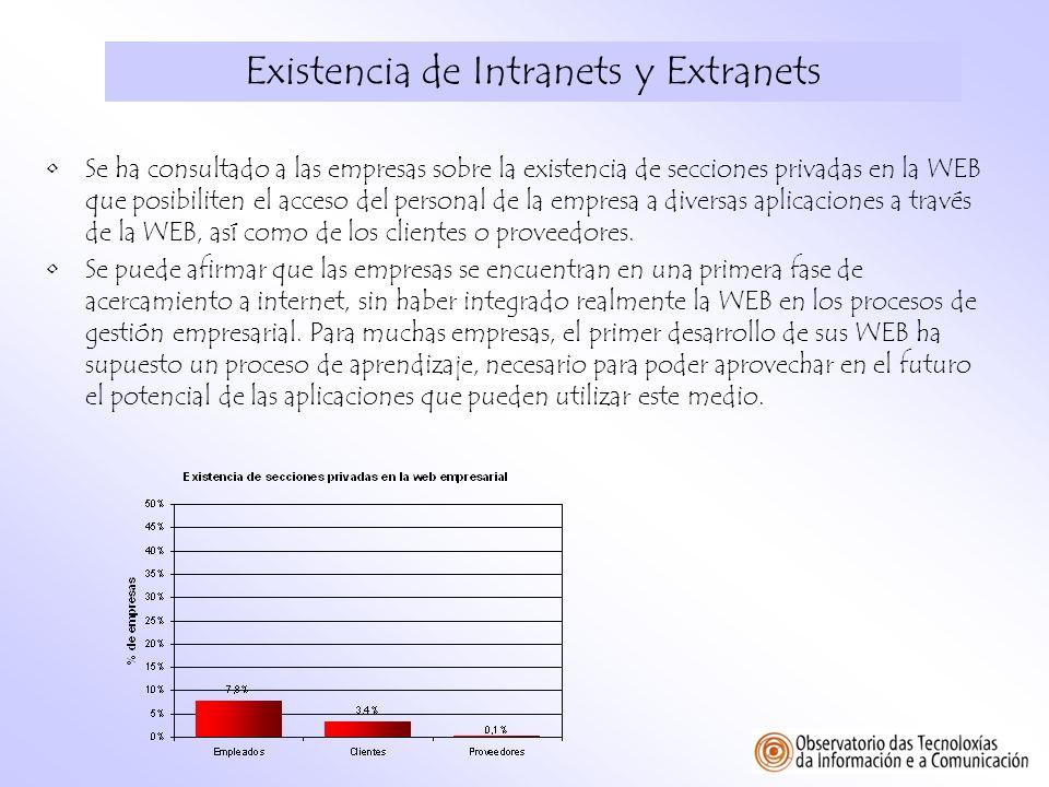 Existencia de Intranets y Extranets