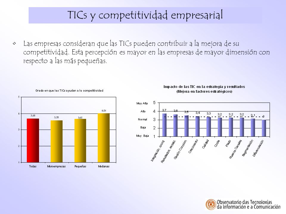 TICs y competitividad empresarial