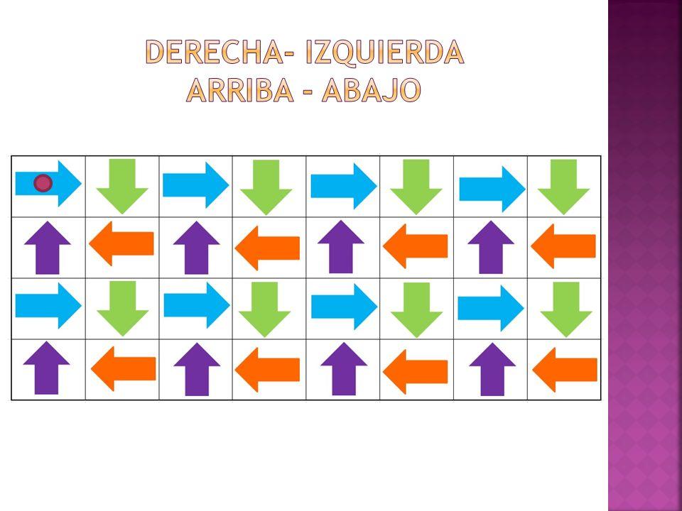 DERECHA- IZQUIERDA ARRIBA - ABAJO