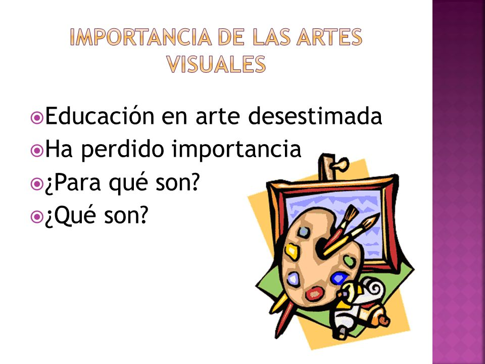 Importancia de las Artes Visuales