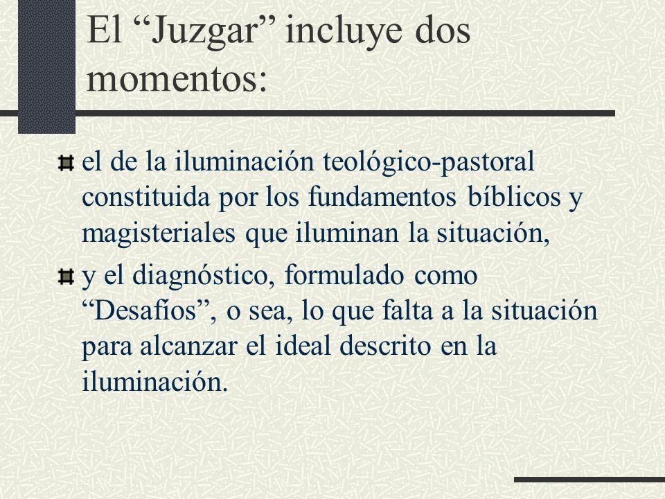 El Juzgar incluye dos momentos: