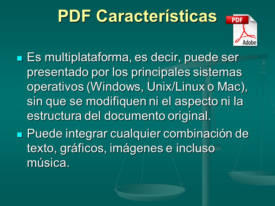 PDF Características