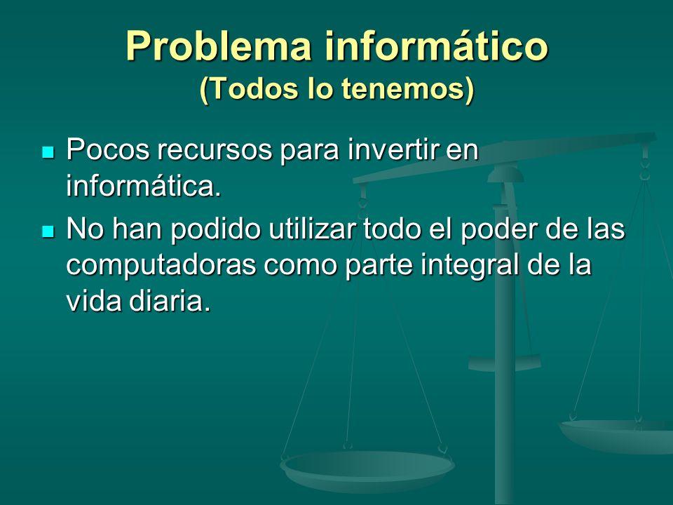Problema informático (Todos lo tenemos)