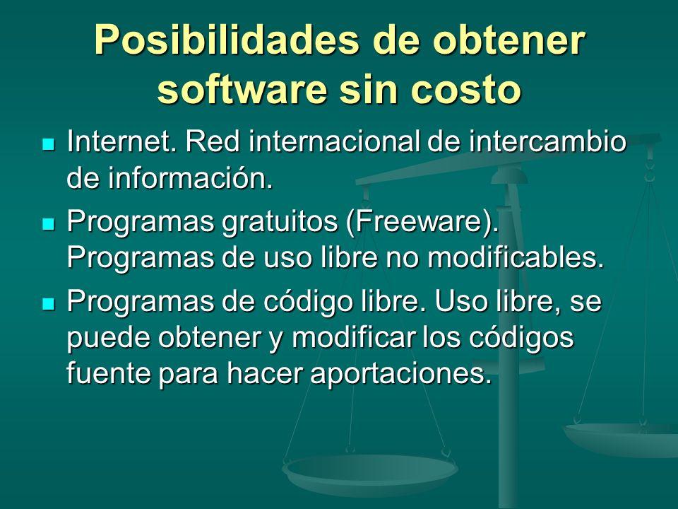 Posibilidades de obtener software sin costo