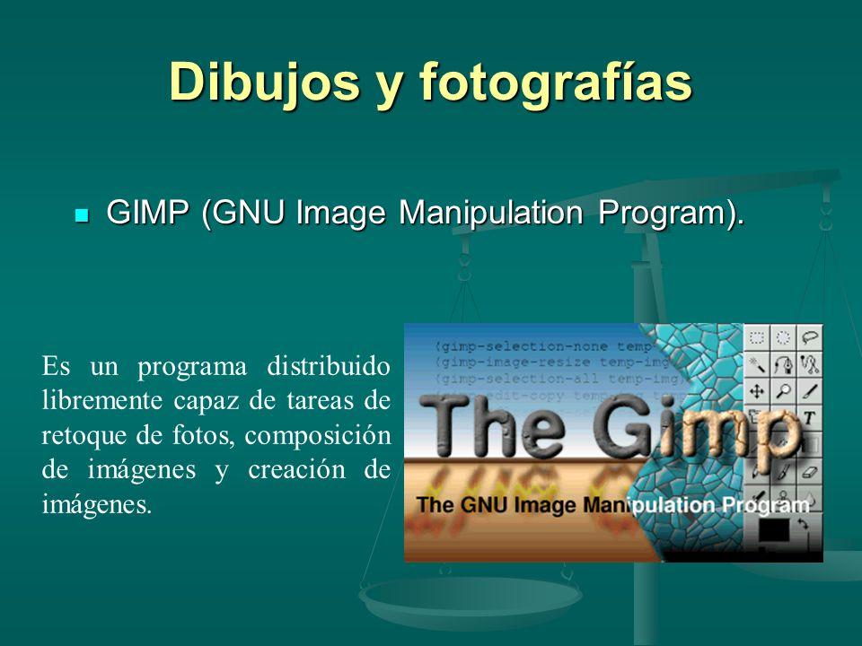 Dibujos y fotografías GIMP (GNU Image Manipulation Program).