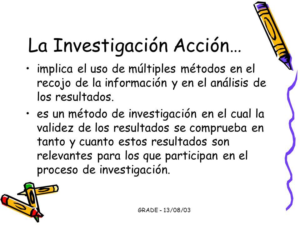 La Investigación Acción…