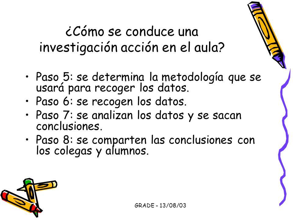 ¿Cómo se conduce una investigación acción en el aula