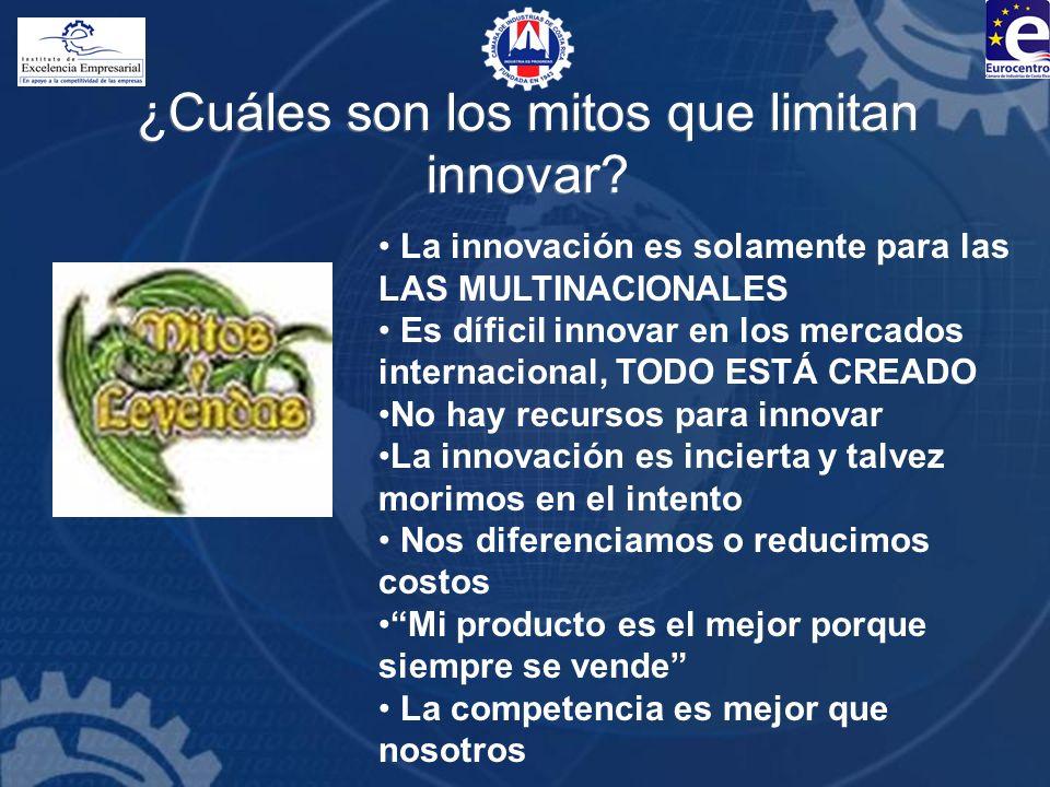¿Cuáles son los mitos que limitan innovar