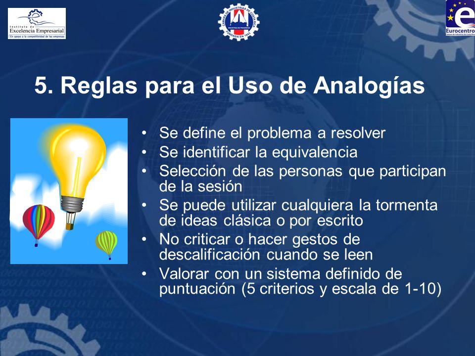 5. Reglas para el Uso de Analogías