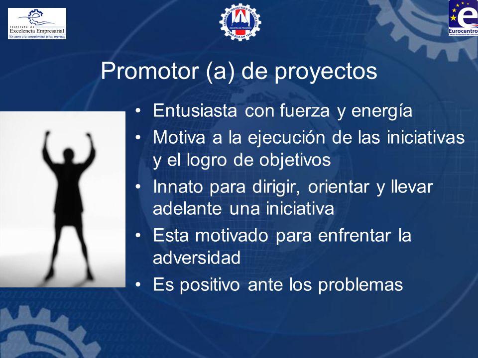 Promotor (a) de proyectos