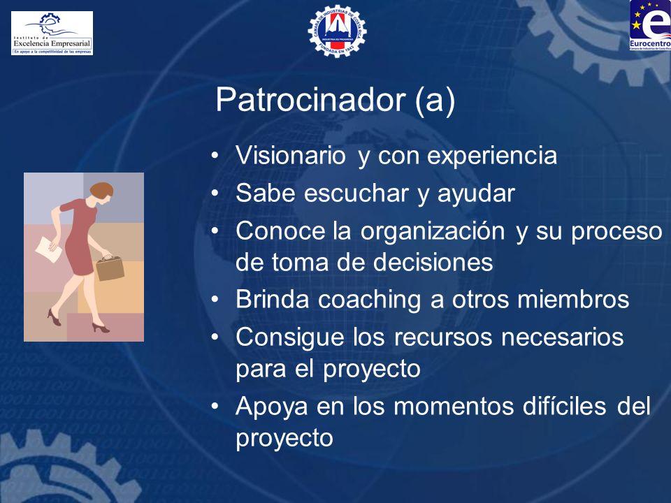 Patrocinador (a) Visionario y con experiencia Sabe escuchar y ayudar