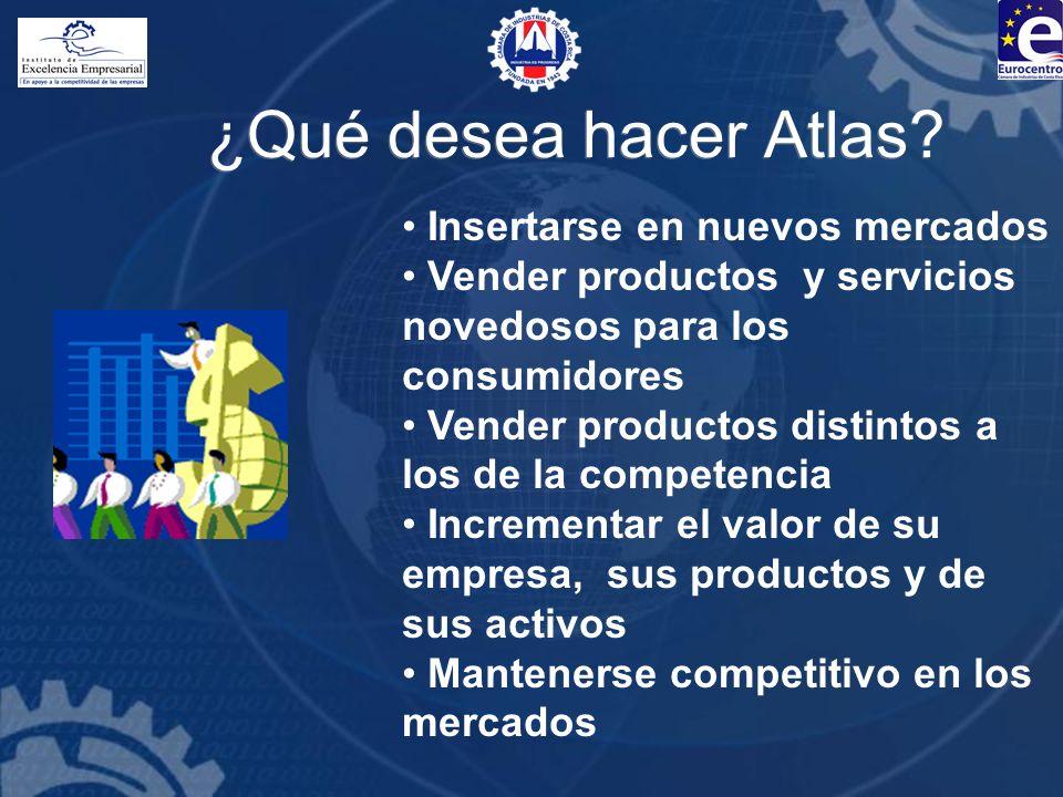 ¿Qué desea hacer Atlas Insertarse en nuevos mercados