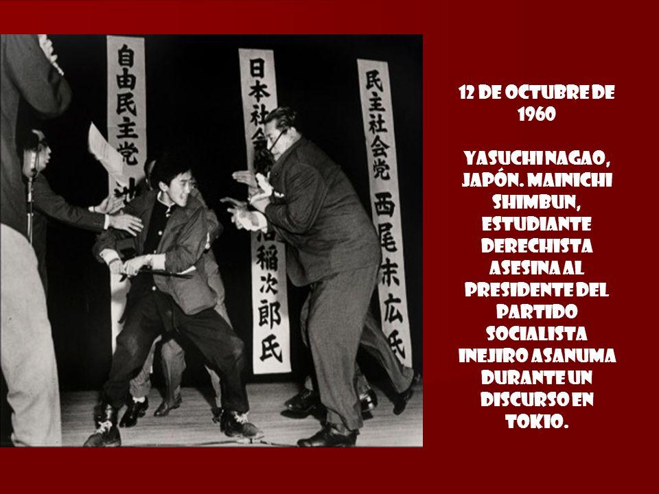 12 de octubre DE 1960 YASUCHI NAGAO, JAPÓN