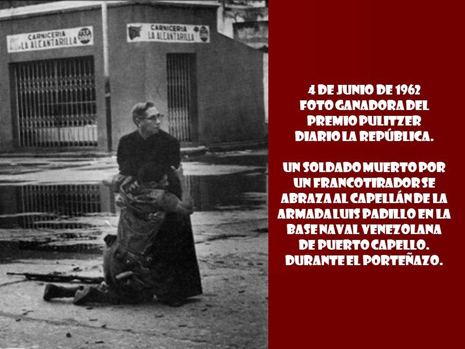 4 de junio de 1962 foto Ganadora del premio pulitzer DIARIO LA REPÚBLICA.