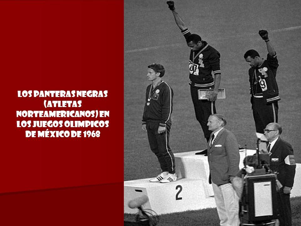 Los Panteras Negras (atletas norteamericanos) en los Juegos Olimpicos DE México de 1968