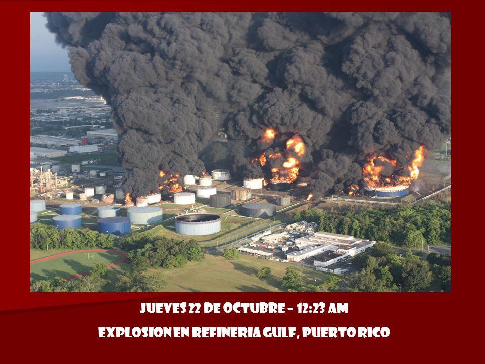 Explosion en refineria gulf, puerto rico