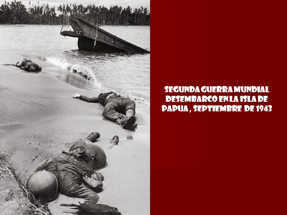 segunda guerra mundial Desembarco en la isla de Papua , septiembre de 1943