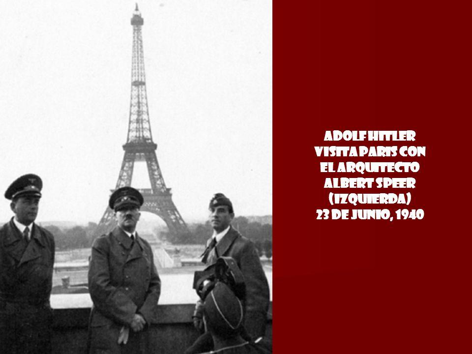 Adolf Hitler visita Paris con el arquitecto Albert Speer (izquierda) 23 de Junio, 1940