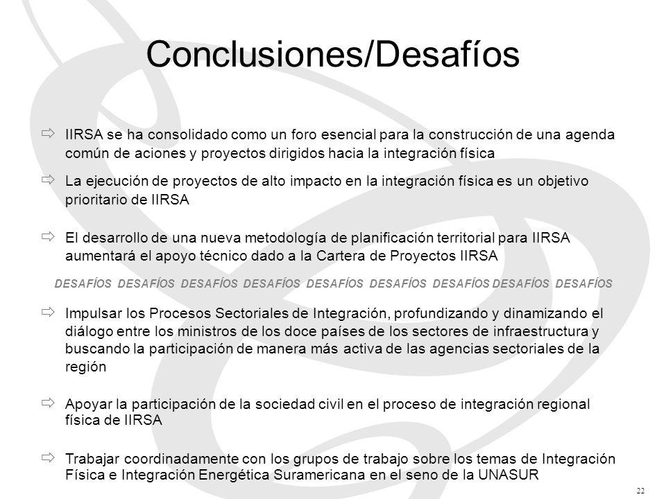 Conclusiones/Desafíos