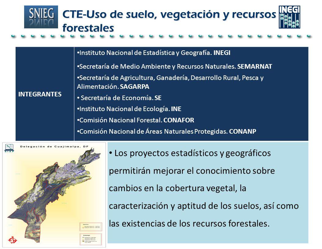 CTE-Uso de suelo, vegetación y recursos forestales