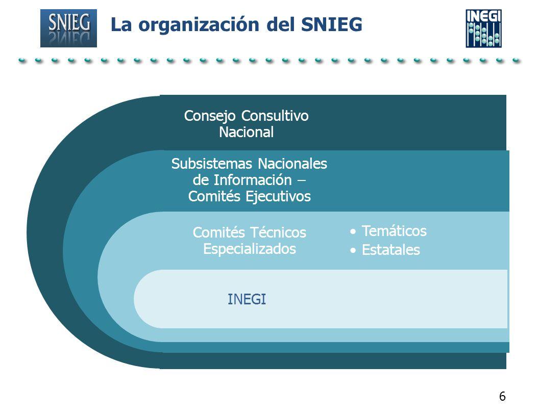 La organización del SNIEG