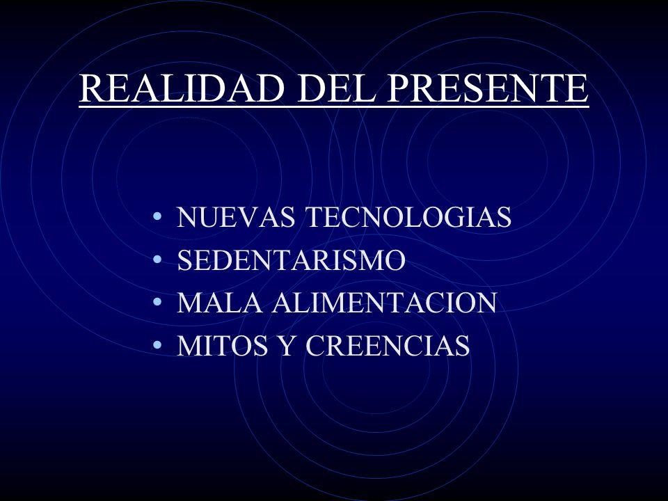 REALIDAD DEL PRESENTE NUEVAS TECNOLOGIAS SEDENTARISMO