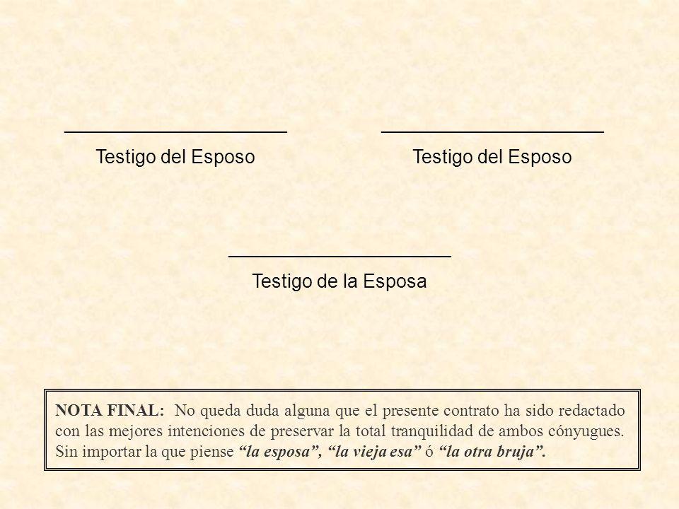 _____________________ Testigo del Esposo _____________________