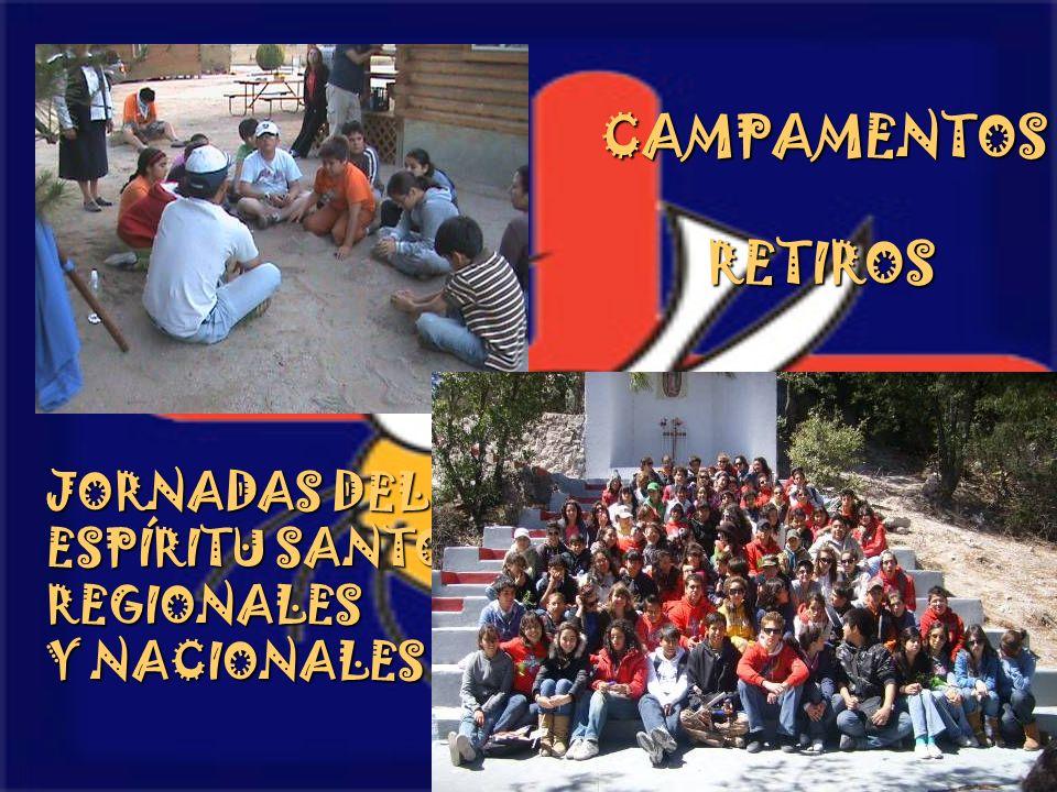 CAMPAMENTOS RETIROS JORNADAS DEL ESPÍRITU SANTO REGIONALES