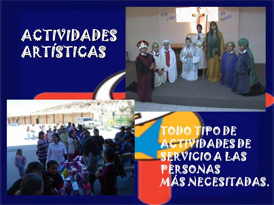 ACTIVIDADES ARTÍSTICAS TODO TIPO DE ACTIVIDADES DE SERVICIO A LAS