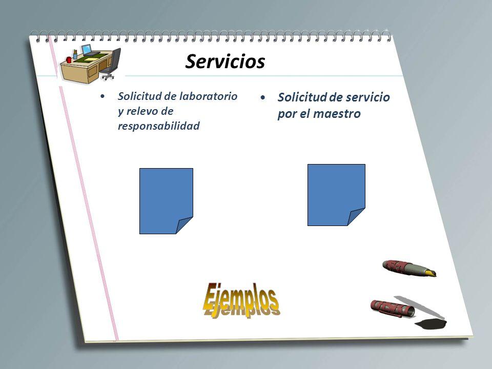 Ejemplos Servicios Solicitud de servicio por el maestro