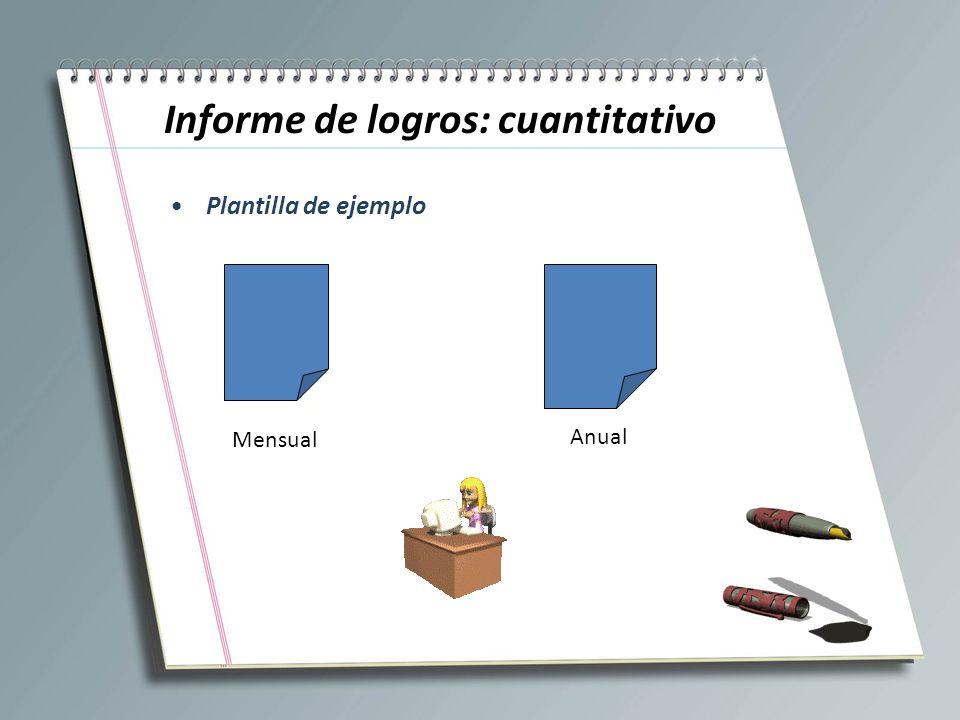 Informe de logros: cuantitativo