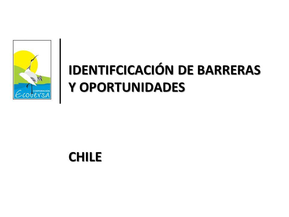 IDENTIFCICACIÓN DE BARRERAS Y OPORTUNIDADES CHILE